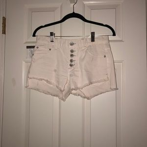 Free people off white shorts